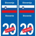 slov nie slovenija sticker num ro d partement au choix autocollant plaque immatriculation auto. Black Bedroom Furniture Sets. Home Design Ideas