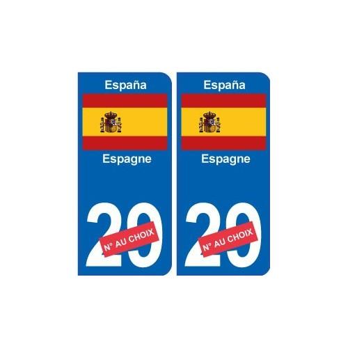 Espagne F autocollant plaque arrondis Angles