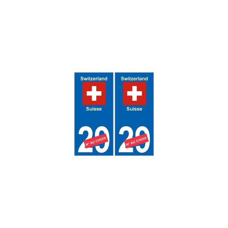 suisse switzerland sticker num ro d partement au choix. Black Bedroom Furniture Sets. Home Design Ideas