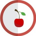 autocollant cerise vectorisé couleur rond rouge stickers