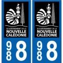 988 nouvelle calédonie autocollant plaque logo 3