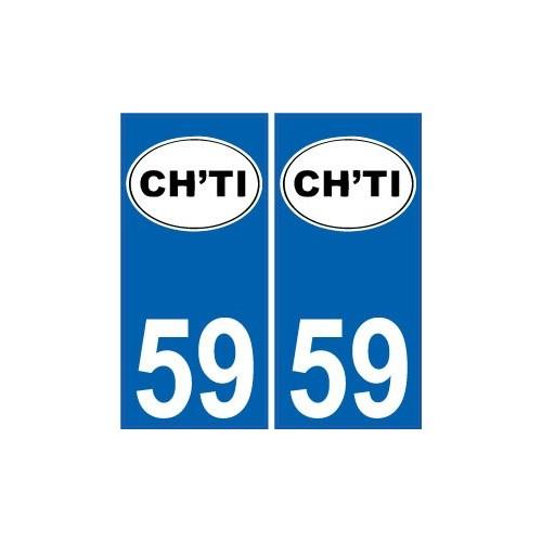 59 nord autocollant plaque immatriculation auto d partement sticker logo ch 39 ti. Black Bedroom Furniture Sets. Home Design Ideas