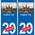 Angkor Vat autocollant plaque monument numéro au choix