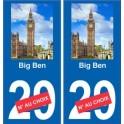 Big Ben autocollant plaque monument numéro au choix