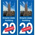 Empire State Building autocollant plaque monument numéro au choix