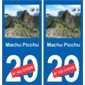 Machu Picchu autocollant plaque monument numéro au choix