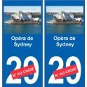 Opéra de Sydney autocollant plaque monument numéro au choix