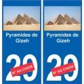 Pyramides de Gizeh autocollant plaque monument numéro au choix