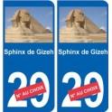 Sphinx de Gizeh autocollant plaque monument numéro au choix