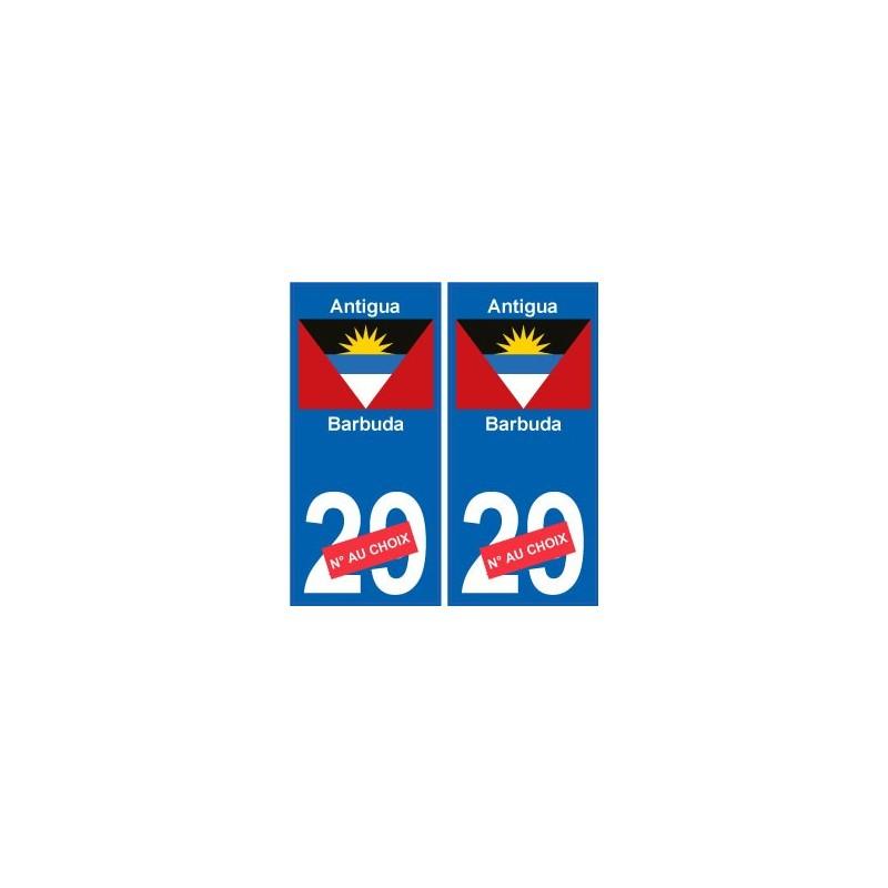 antigua et barbuda sticker num ro d partement au choix. Black Bedroom Furniture Sets. Home Design Ideas
