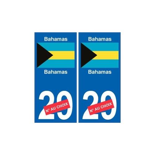 bahamas sticker num ro d partement au choix autocollant. Black Bedroom Furniture Sets. Home Design Ideas