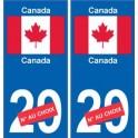 Canada Canada sticker numéro département au choix autocollant plaque immatriculation auto