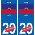 Haïti sticker numéro département au choix autocollant plaque immatriculation auto