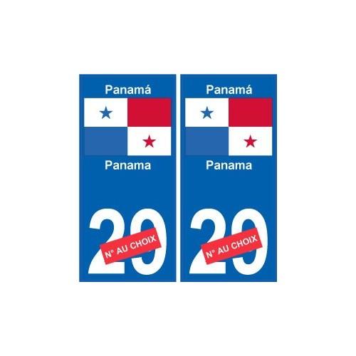 panama panam sticker num ro d partement au choix. Black Bedroom Furniture Sets. Home Design Ideas