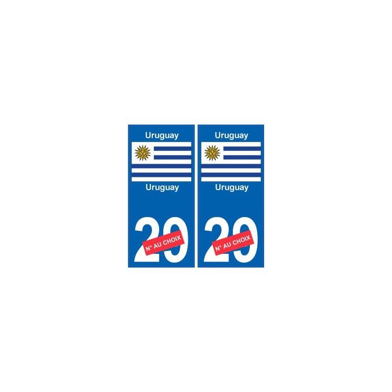 uruguay sticker num ro d partement au choix autocollant. Black Bedroom Furniture Sets. Home Design Ideas