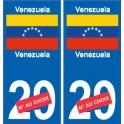 venezuela sticker num ro d partement au choix autocollant plaque immatriculation auto. Black Bedroom Furniture Sets. Home Design Ideas