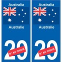 Australie Australia sticker numéro département au choix autocollant plaque immatriculation auto