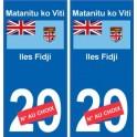 Iles Fidji Matanitu ko Viti sticker numéro département au choix autocollant plaque immatriculation auto