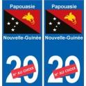 Papouasie-Nouvelle-Guinée sticker numéro département au choix autocollant plaque immatriculation auto