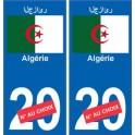 Algérie رئازجلا sticker numéro département au choix autocollant plaque immatriculation auto