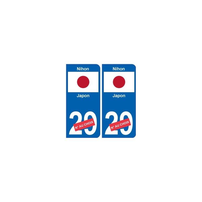 japon nihon sticker num ro d partement au choix autocollant plaque immatriculation auto. Black Bedroom Furniture Sets. Home Design Ideas