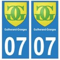 07 Guilherand-Granges city sticker plate