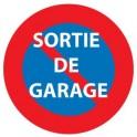 Autocollant Interdiction de stationner logo 2-1sortie de garage sticker adhesif
