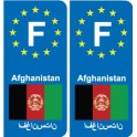 F Europe Afghanistan autocollant plaque