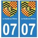07 La Voulte-sur-Rhône ville autocollant plaque