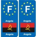 F Europe Angola autocollant plaque