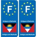F Europe Antigua and Barbuda Antigua and Barbuda sticker plate