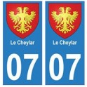 07 Le Cheylard ville autocollant plaque