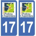 17 Charente-Maritime sticker plaque immatriculation