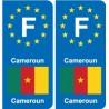 F Europe Cameroun Cameroon autocollant plaque