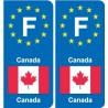 F Europe Canada autocollant plaque