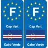 F Europe Cap Vert Cape Verde autocollant plaque