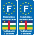 F Europe central African Republic Central African Republic sticker plate