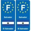 F Europe Salvador El Salvador autocollant plaque