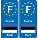 F Europe Estonia Estonia sticker plate