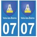 07 Vals-les-Bains ville autocollant plaque