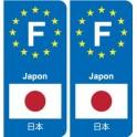 F Europe Japan Japan sticker plate