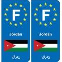 F Europe Jordan sticker plate