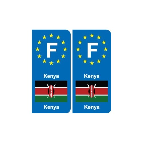 F Europe Kenya autocollant plaque