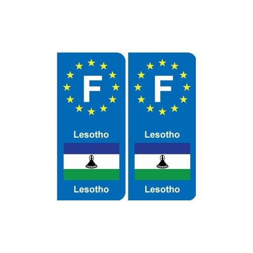 F Europe Lesotho autocollant plaque