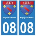 08 Bogny-sur-Meuse autocollant plaque ville département
