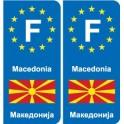 F Europe Macedonia sticker plate