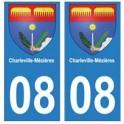 08 Charleville-Mézières autocollant plaque ville département