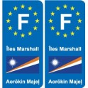 F Europe Marshall Islands Marshall Islands sticker plate