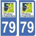 79 Deux Sèvres autocollant plaque