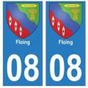 08 Floing autocollant plaque ville département